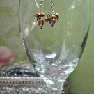 Shimmer Brown Drop Earrings