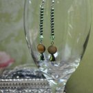 Green and Brown Dangle Earrings