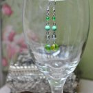 Green Rock Crystal Earrings