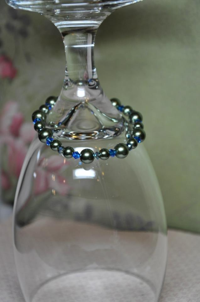 Unique Blue Bermuda Swarovski Stretchy Handmade Bead Bracelet