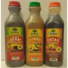 Jamaican Jerk, Curry & Oxtail Sauce Pack (medium)