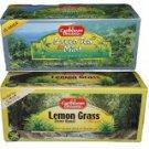 Caribbean Dreams Tea Collection - Lemongrass Tea Plus  Green Tea with Mint Herbal Tea