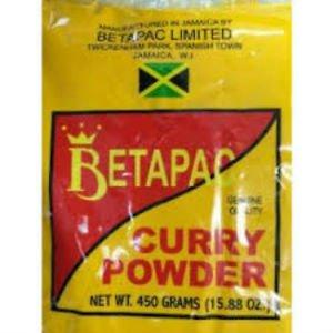 BETAPAC JAMAICAN ORGANIC CURRY POWDER 450 g (PACK OF 3)