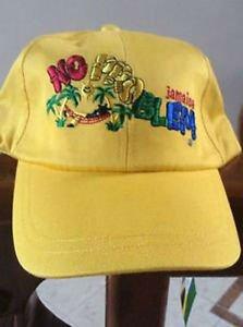 JAMAICAN NO PROBLEM MON BALL CAP YELLOW