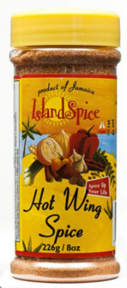 ISLAND SPICE JAMAICA HOT WING SPICE 8 OZ (PACK OF 3)