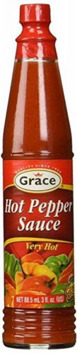 GRACE HOT PEPPER SAUCE -NO MSG -3 OZ (PACK OF 6)