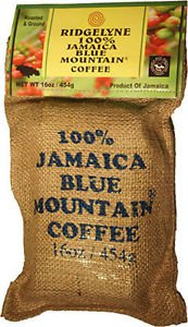 RIDGELYNE 100% JAMAICA BLUE MOUNTAIN COFFEE FRESHLY ROASTED
