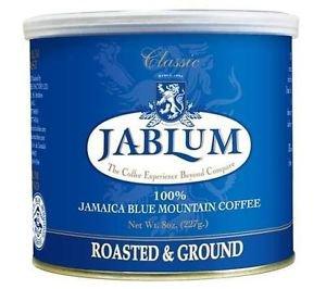 JABLUM 100% JAMAICAN BLUE MOUNTAIN GROUND COFFEE -TIN BLEND (PACK OF 2)