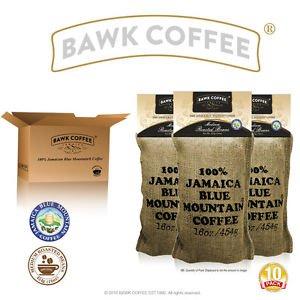 BAWK Coffee  Authentic Jamaica Blue Mountain Coffee Beans 10 lbs
