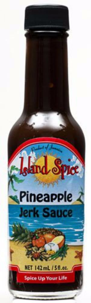 JAMAICAN ISLAND SPICE PINEAPPLE JERK SAUCE 5 OZ (PACK OF 6)
