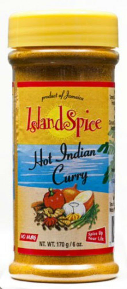 ISLAND SPICE HOT INDIAN CURRY � 6 OZ ( PACK OF 6)