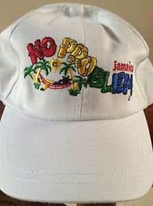 JAMAICAN NO PROBLEM MON BALL CAP WHITE