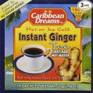 CARIBBEAN DREAMS INSTANT GINGER TEA UNSWEETENED  (PACK OF 3)