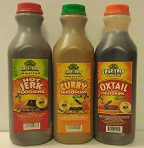 SPUR TREE JAMAICAN JERK, CURRY & OXTAIL SAUCE PACK (MEDIUM 35 oz)