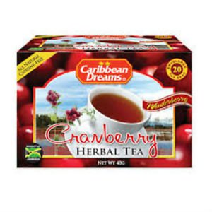 CARIBBEAN DREAMS CRANBERRY TEA 20 BAGS ( PACK OF 3)