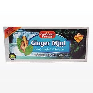 CARIBBEAN DREAMS GINGER MINT TEA 24 BAGS (PACK OF 4)