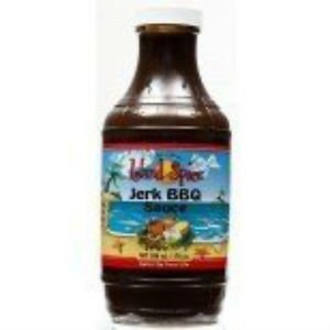 ISLAND SPICE BBQ JERK SAUCE 17 OZ ( PACK OF 2)