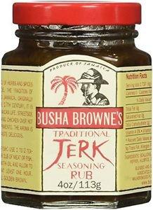 Busha Browne Jerk Seasoning Rub, 4 oz (Pack of 3)