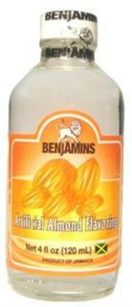 BENJAMINS ARTIFICIAL ALMOND FLAVORING , 4 OZ (PACK OF 3)