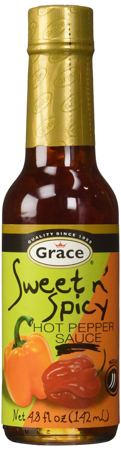 Grace Sweet N' Spicy Hot Pepper Sauce Mild 142ml, 5oz ( PACK OF 3)