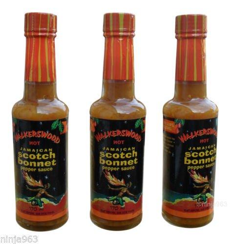 WALKERSWOOD HOT JAMAICAN SCOTCH BONNET PEPPER SAUCE (PACK OF 6)