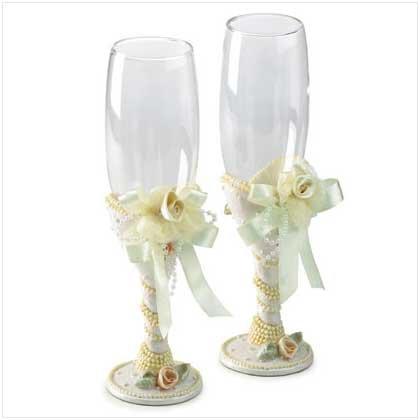 Beaded Glass Goblets
