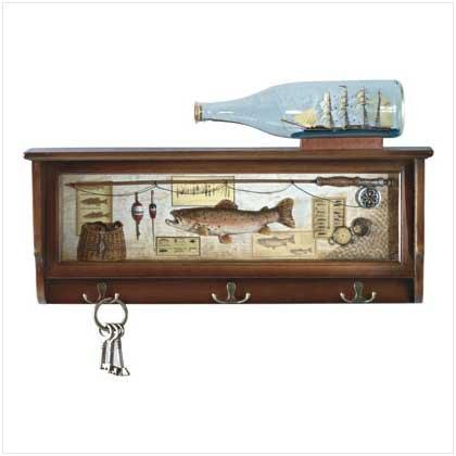 Fishing Themed Hall Shelf