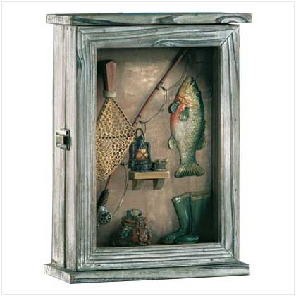 Fishing Shadowbox Key Cabinet