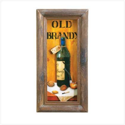 Old Brandy Shadowbox Art