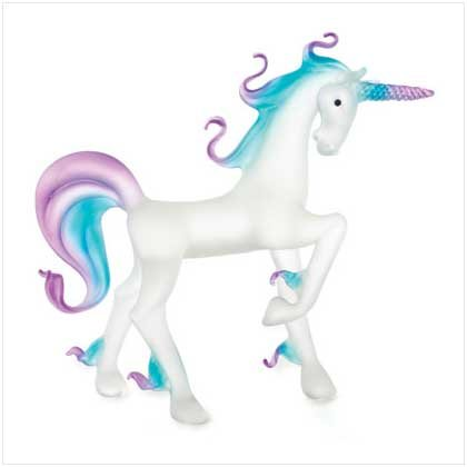 Glass Purple & Blue Unicorn