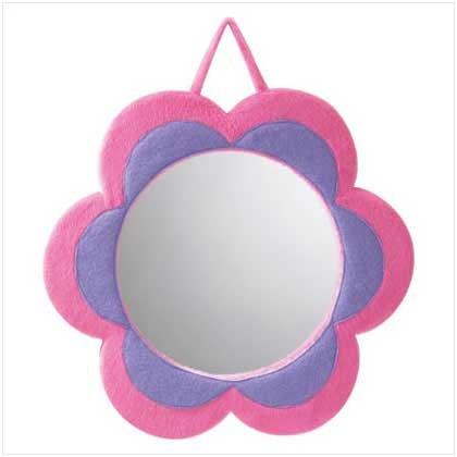 Plush Flower Mirror