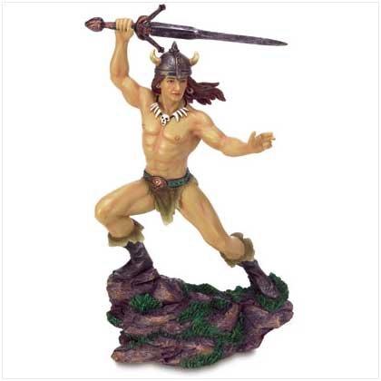 Viking Warrior with Sword Figurine