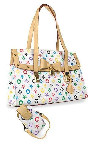 Colorful Multicolor Accessorized Fashion Handbag