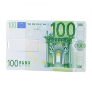 100 Euro 4GB U Disk/Driver/Flash Disk with Money Card CB