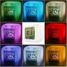 Glowing LED Color Mood Changing Digital Alarm Clock Free shipping