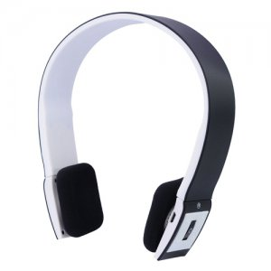 USB Rechargable Wireless Bluetooth Stereo Headset with LED Indicator-White
