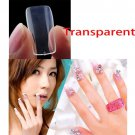 500 Pcs French Acrylic Full Clear Fake False Nail Art Tips