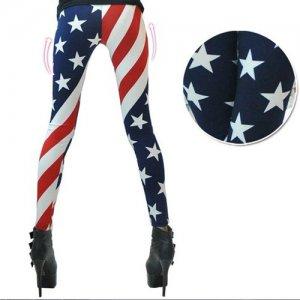 American Flag Patterned Leggings Tights