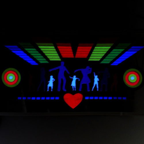 Dancing People Car Sticker Sound Music Activated/Equalizer Glow LED