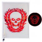 Burning Skull Car Sticker Sound Music Activated/Equalizer Glow LED