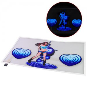Blue Girl Car Sticker Sound Music Activated/Equalizer Glow LED