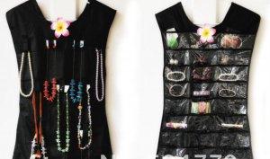 Little Dress Hanging Jewelry Organizer Pink or Black