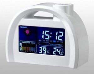 LED Digital Weather Forecast Station Alarm Clock (White)