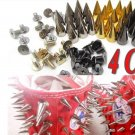 100 cool spike brand Punk Studs to adorn Clothes or Shoes
