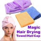 Microfiber Magic Hair Drying Towel Hat Cap - Quick Dry