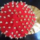 Punk Hiphop Unisex Hat Gold Spikes Spiky Studded Basebal Cap