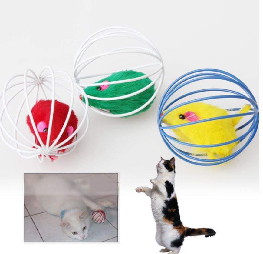 Cat Kitten Gift Funny Play Toys running Mouse Ball