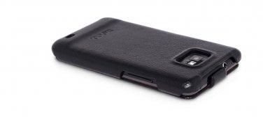 Epack Leather Case Cover Designed For Samsung Galaxy S2 i9100 Black / white + Bonus