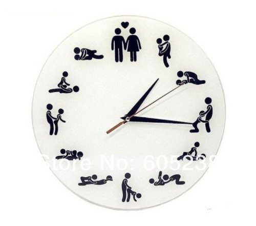 Sex position Clock- 24hours Wall clock