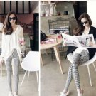 Euro  jeans look Houndstooth leggings Black and White
